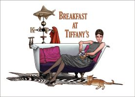 Holly Golightly and Cat by synthezoide