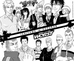 Ishiyama vs Suzuran by 6night-walking9