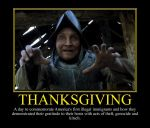 Thanksgiving Motivational Poster by DaVinci41