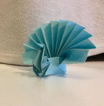 Peacock by origami-roses