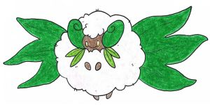 Mega whimsicott by FrozenFeather
