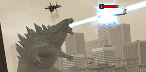 Godzilla 2014: The King's Atomic Breath by sonichedgehog2
