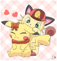 Friendly ear noms by pichu90