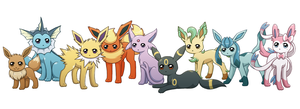 Eeveelutions by MilleniumDream