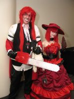 Ohayocon Grell and Red by JoeZep5