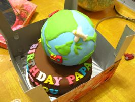 A World Traveler's B-day Cake by meechan