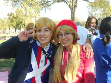 North American Sisters~ (Hetalia Day DC 2013) by CV02-Kagamine-Len