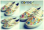colorful flower shoes by JONY-CAKEP