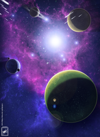Nasa's final attempt_Space art Background by wsache007