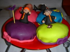 Ron and Neville cakes by Evilwarlordgu