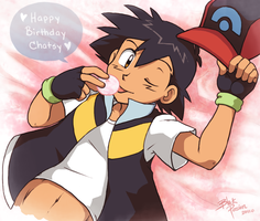 Happy Birthday Chatseh by blackpersian