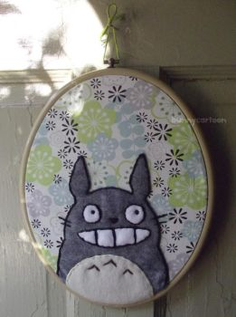 My Neighbor Totoro embroidery art by usamimi