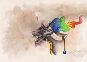 Rainbow Bahamut by 8Bpencil