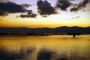 Sunset Over Inle Lake 1 by CitizenFresh