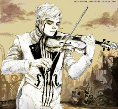 The White Violin by HumanPinCushion
