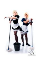 Saber maids 3 - Lazy at work by simakai