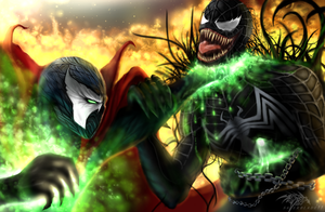 Spawn vs Venom by Saver-Blade