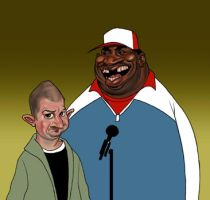 Patrice O'neal and Jim Norton by lllatthias