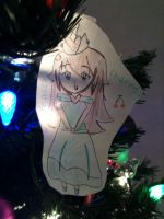 Princess Cherry Ornament by Coffee828
