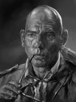 Pete Postlethwaite by AndrewRyanArt