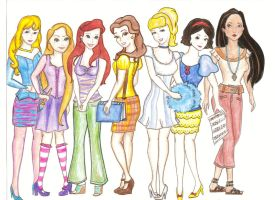 My Modern Disney Princesses by kt-grace
