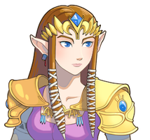 Legend of Zelda- Zelda Face by CatbeeCache
