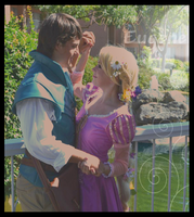 Rapunzel and Eugene Dancing by tangledinthread