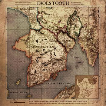 Current Work - Digital: Faol's Tooth Map by DovahFahliil