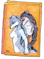 Gift Arts- Wolves in Love by rezzit