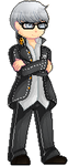 [pixel] the protag (glasses ver.) by soujis