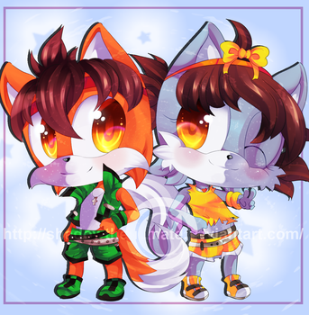 Commission: Twin Glory by MayomiCCz