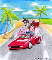 Driving with Splash Wave ~OutRun by Reallyfaster
