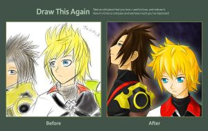 Draw this again - Terra and Ventus by daFlique