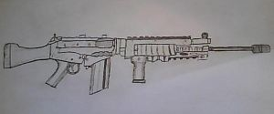 Attempt at a Rifle by zanderman18