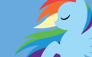 Wallpaper - Rainbow Dash by MegaSweet