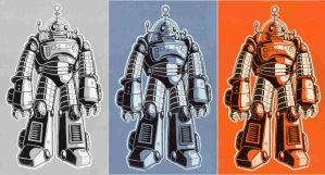 Retro Robot Prints by JubbenRobot