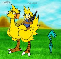 Chocobo's put up with a lot... by GeomancerEDG