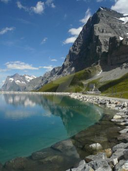 Reflections of Eiger by balibob