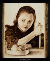 Arya Stark - Game of Thrones - Woodburning by brandojones