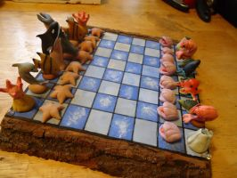 Sea Creatures Chess Set 1 by MyrHansen