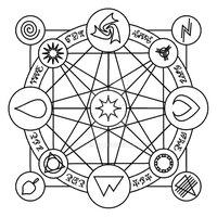 Laratia - Rune Wheel by toasterpip