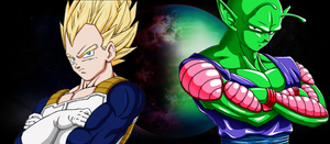 Namek and Vegeta by chibimaronchan
