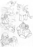 Multi-fandom sketchdump by merrypaws