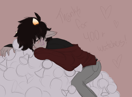 thanks for 400 by queenofdavekat