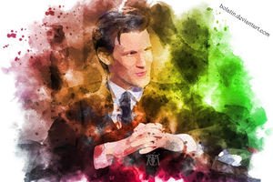 Watercolor 11th doctor by bolatin