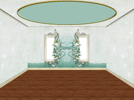 Green Ribbon Room Png by mysticmorning