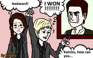 Hunger Games-The Awkward Moment by Yihbey
