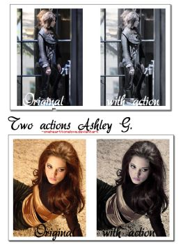Two actions Ashley G. by onehearttonelove