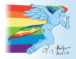 MLP Rainbow Dash Speed Sketch by lizstaley