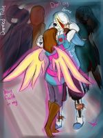 Have Faith In My (Damned tale AU) sans x frisk by lady-heart235